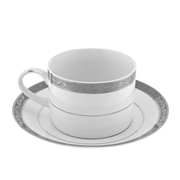 10 Strawberry Street Paradise 8-Ounces Platinum Can Cup/Saucer-Pack of 2 - PAR-9P