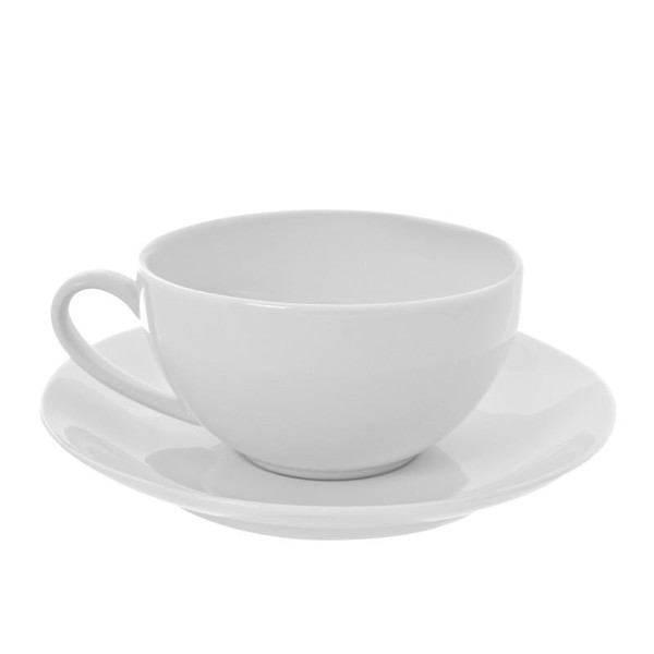 10 Strawberry Street Royal Coupe White 10-Ounces Oversized Cup/Saucer- Pack Of 24 RCP0009