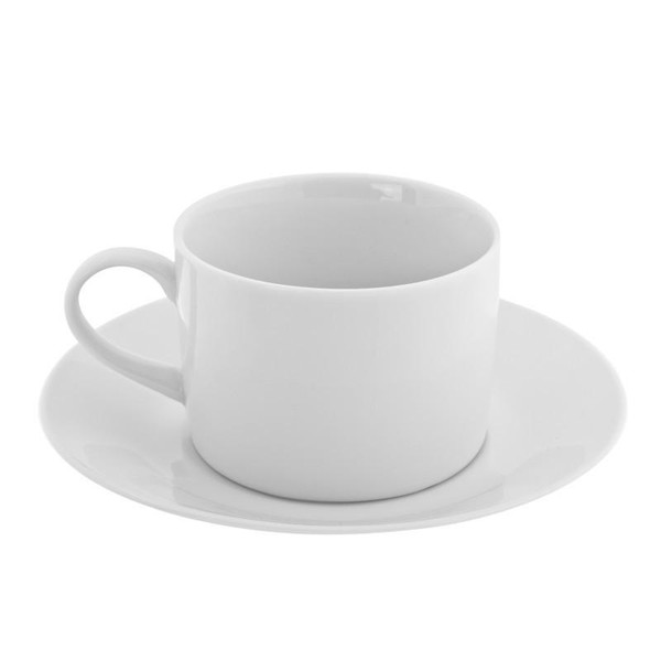 10 Strawberry Street Royal White 8-Ounces Can Cup/Saucer- Pack Of 24 RW0009
