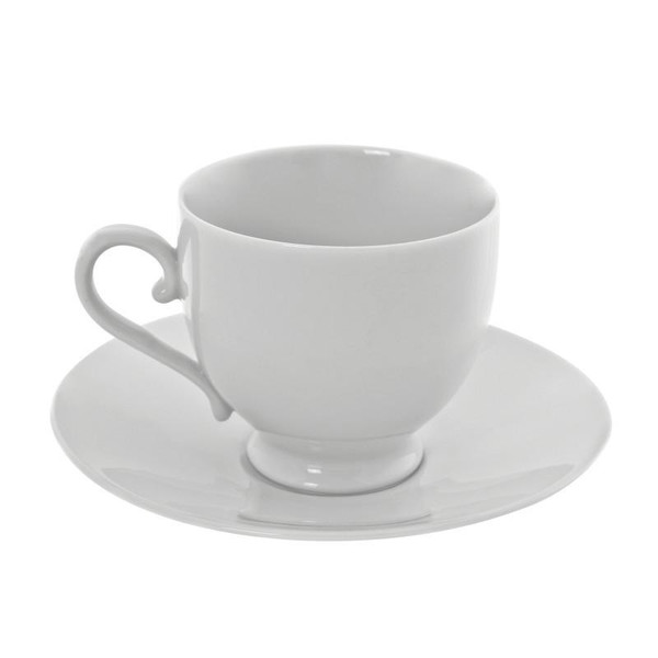 10 Strawberry Street Royal White 8-Ounces Sophia Cup/Saucer- Pack Of 24 RW0010