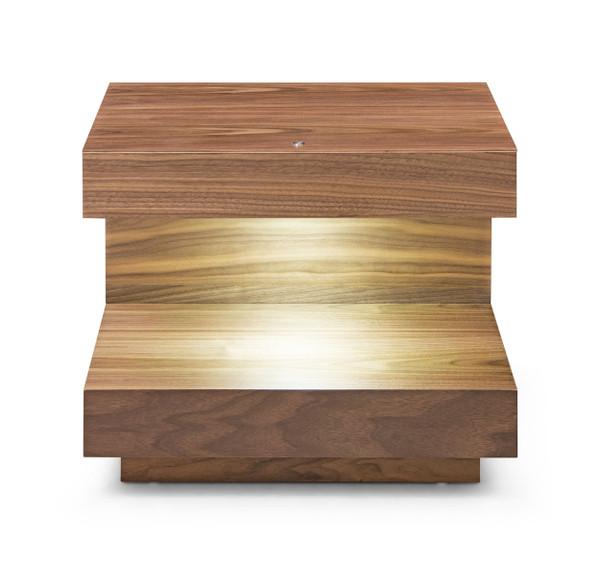 VGWCC121B-WAL-ET Modrest Esso - Contemporary Walnut End Table By VIG