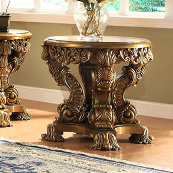 Homey Design Victorian End Table HD-8008-END TABLE