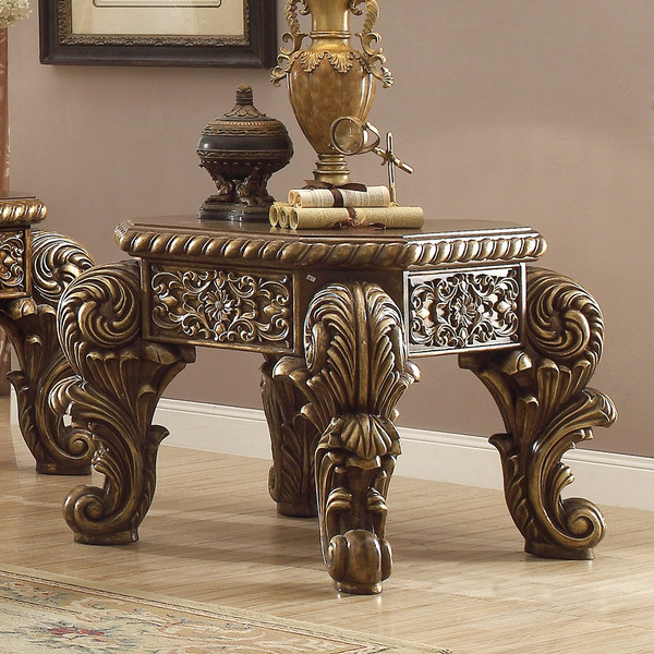 Homey Design Victorian End Table HD-8011-END TABLE