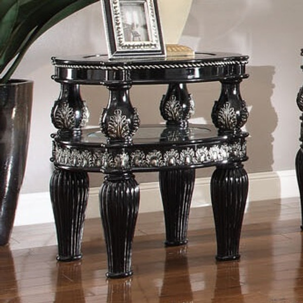 Homey Design Victorian End Table HD-1208-END TABLE