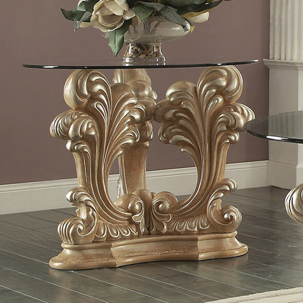 Homey Design Victorian End Table HD-7012-END TABLE
