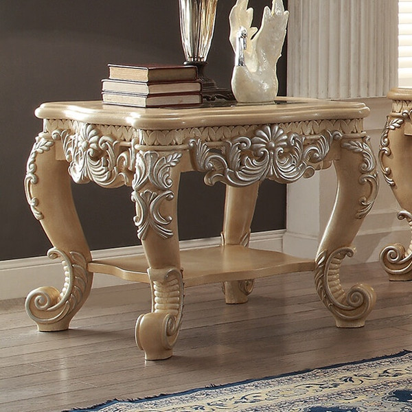 Homey Design Victorian End Table HD-7266-END TABLE
