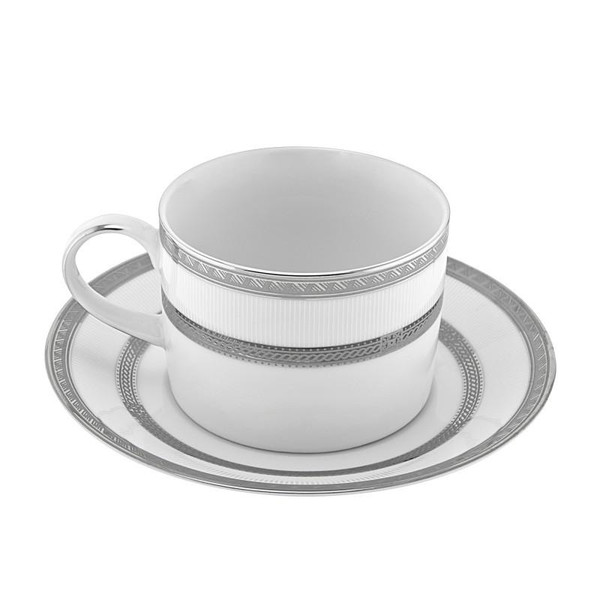 10 Strawberry Street Sophia 8-Ounces Can Cup/Saucer- Pack Of 24 SOP-9