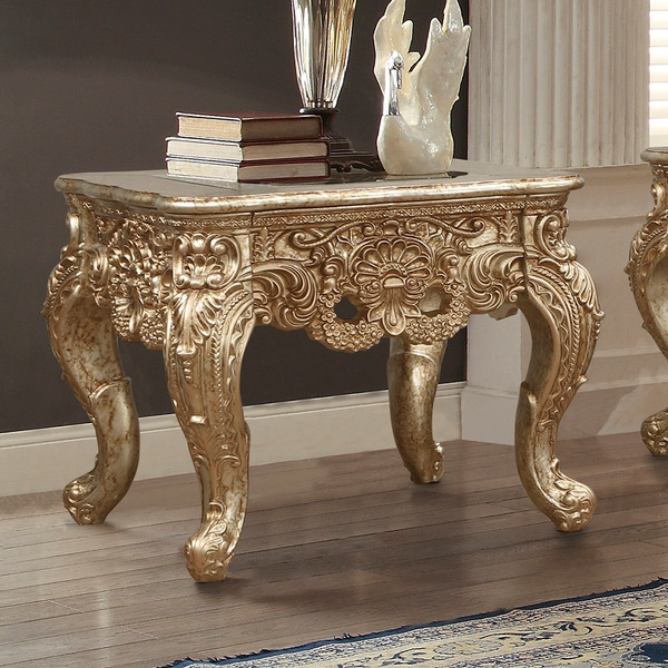 Homey Design Victorian End Table HD-998 G-END TABLE