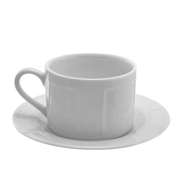 10 Strawberry Street Sorrento 9-Ounces Can Cup/Saucer- Pack Of 24 SORR0009