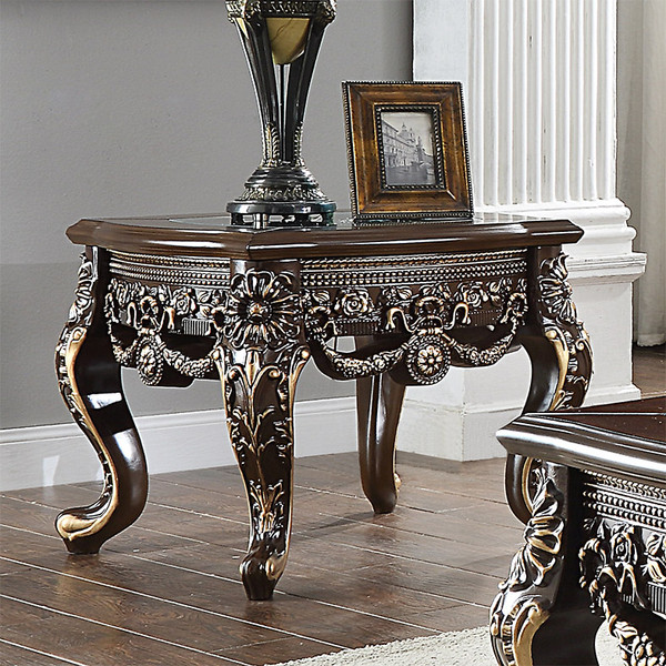 Homey Design Victorian End Table HD-905 C-END TABLE