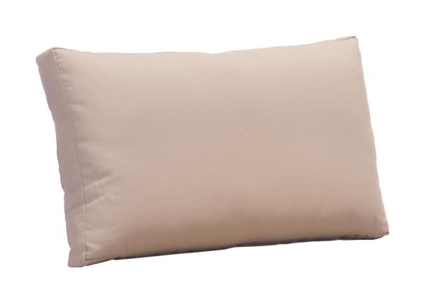 "Homeroots 30.3"" X 3"" X 17.7"" Taupe, Sunproof Fabric, Foam, Beach Back Cushion 249225"