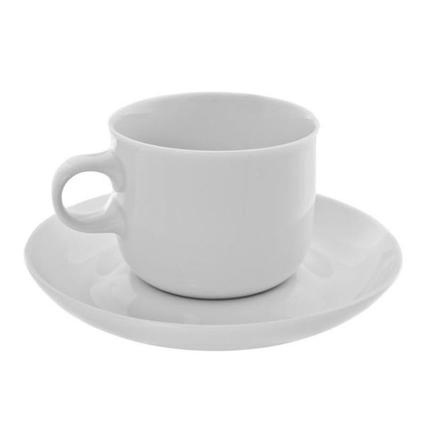 10 Strawberry Street Taverno 6-Ounces Tea Cup/Saucer- Pack Of 24 TAV-9
