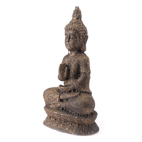 """Homeroots 10.4"""" X 6.5"""" X 19.1"""" Brown Buddha Sculpture 295103"""