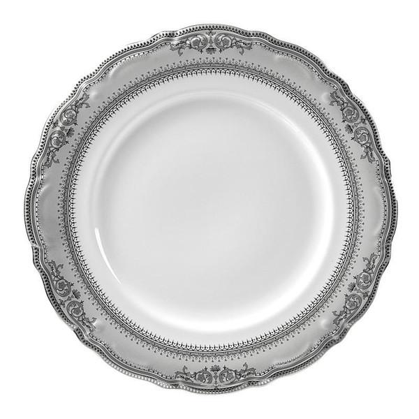 "10 Strawberry Street Vanessa 11.88"" Platinum Charger Plates- Pack Of 12 VAN-24P"