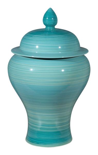 """Homeroots 10.8"""" X 10.8"""" X 17.9"""" Blue, Ceramic, Jar 364949"""