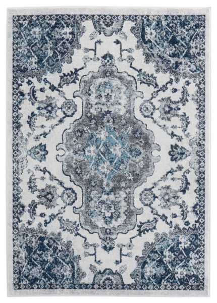 """Homeroots 22"""" X 36"""" Ivory Olefin Accent Rug 366947"""