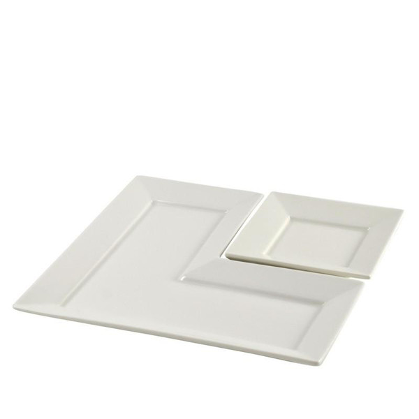 """10 Strawberry Street Whittier 5.25"""" Square Dishes- Pack Of 48 WTR-5FTDSQ"""
