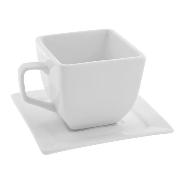 10 Strawberry Street Whittier Square 4-Ounces Cup/Saucer- Pack Of 24 WTR-CUP