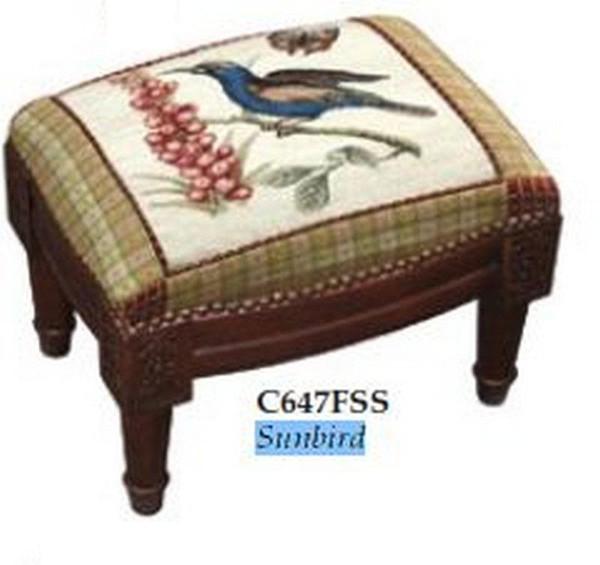 123-Creations Needlepoint Wool Sunbird Footstool C647FSS