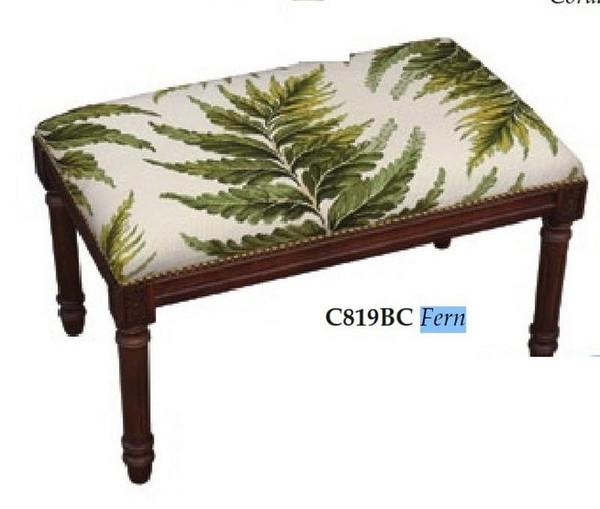 123-Creations Needlepoint Wool Fern Bench C819BC