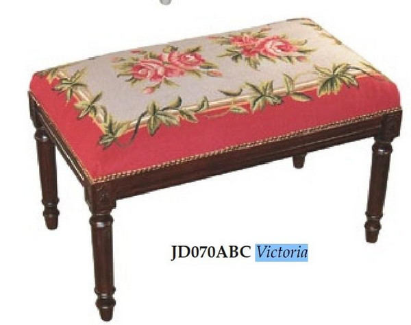 123-Creations Victoria Needlepoint Wool Bench JD070ABC