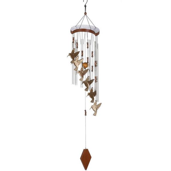 Aluminum Hummingbird Wind Chimes - 10015860