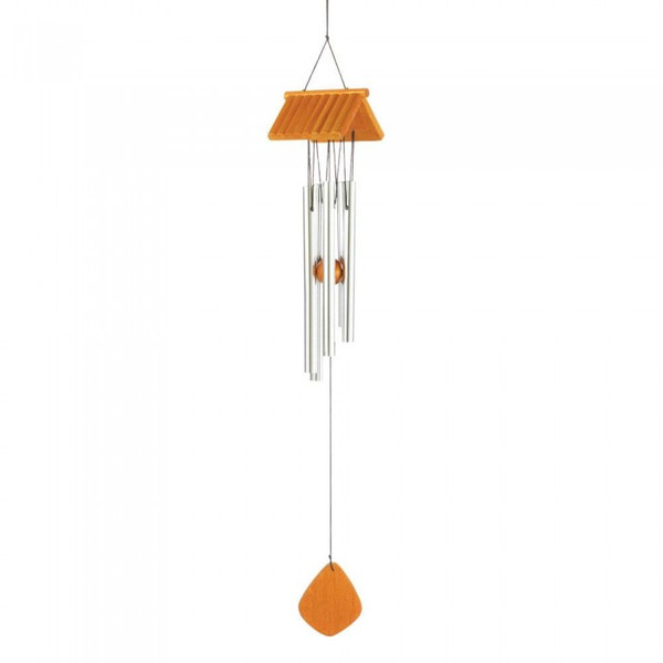 Log Cabin Roof Wind Chimes 10017705