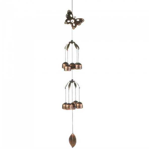Butterfly Double-Tier Bell Wind Chimes 10017707