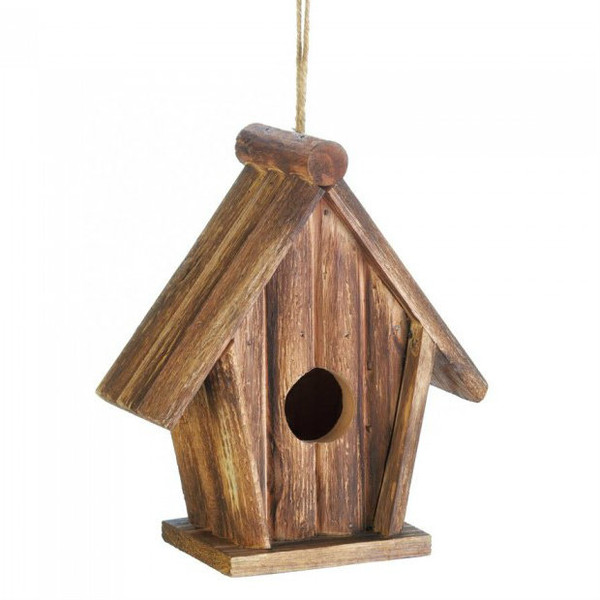 Classic Rustic Wood Bird House 10018412