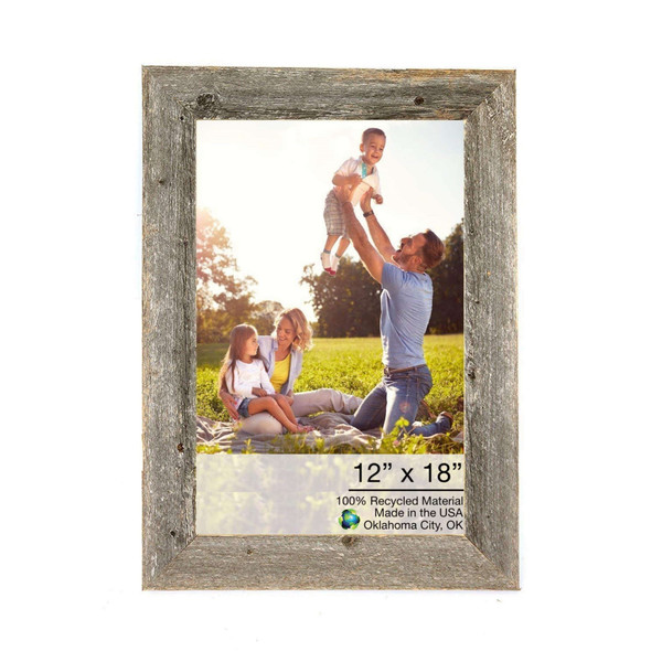 """Homeroots 14""""X21"""" Natural Weathered Grey Picture Frame 380376"""