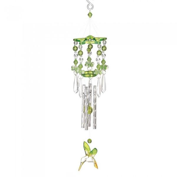 Green Acrylic Hummingbird Windchimes 12506