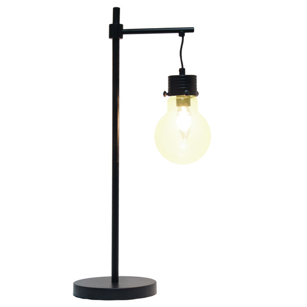 Lalia Home Black Matte 1 Light Beacon Table Lamp With Clear Glass Shade LHT-5027-BK