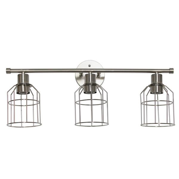Lalia Home 3 Light Industrial Wired Vanity Light, Brushed Nickel LHV-1000-BN