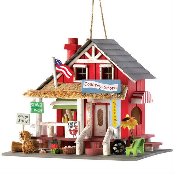 Wood Country Store Bird House - 14258