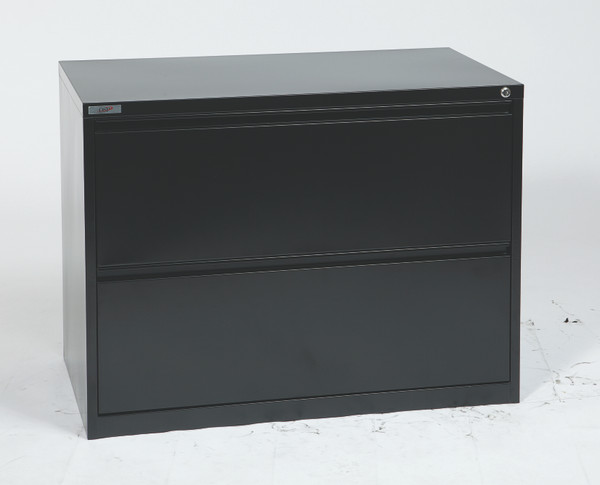 """Office Star 36"""" Wide 2 Drawer Lateral File - Black LF236-B"""