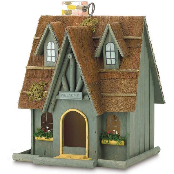 Wood Cottage Bird House - 29312