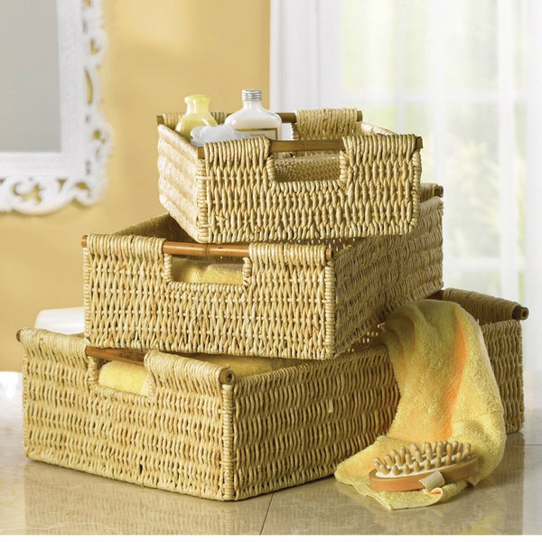 Nesting Corn Husk Basket Set - 34622