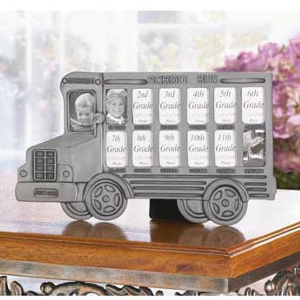 13-Year School Bus Picture Frame - 35239