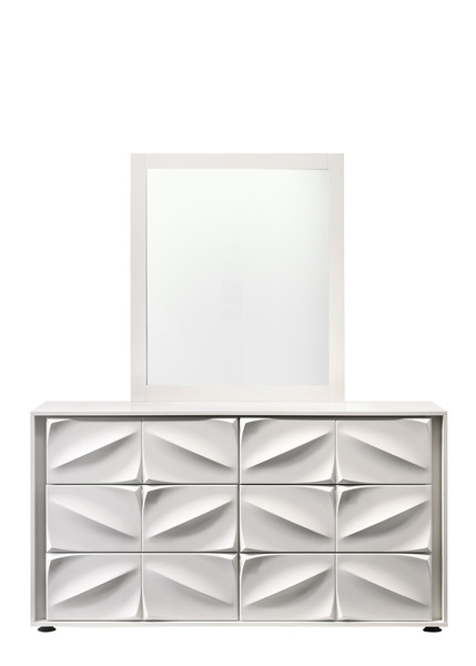 Contemporary 6-Drawer Dresser - Matte White AMSTERDAM-DRS