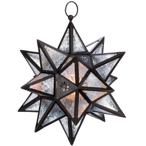 Hanging Multi-Point Star Candle Lantern - D1133