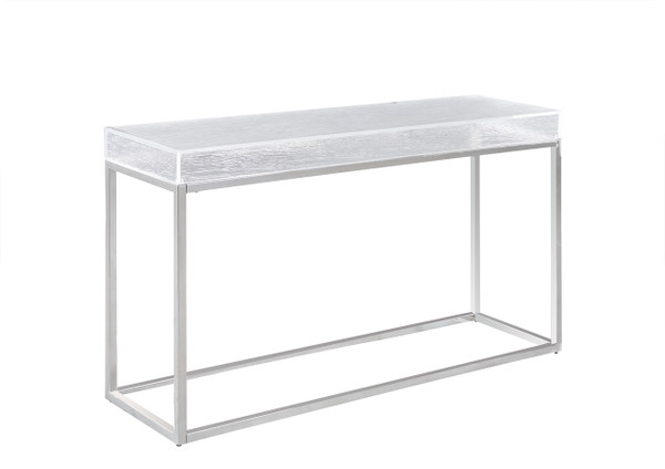 Contemporary Sofa Table With Acrylic Top & Stainless Steel Frame VALERIE-ST