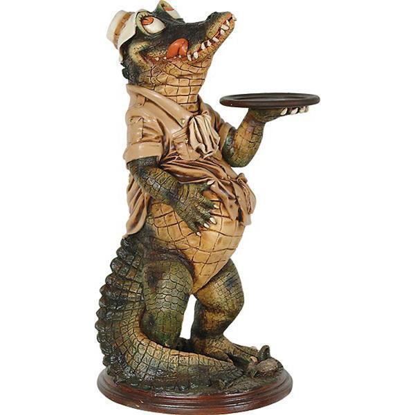 AFD Home Decorative Crocodile Butler Statue 10118715