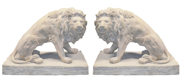 AFD Home Decorative Lions Rs Sculpture Set Of 2 11028279
