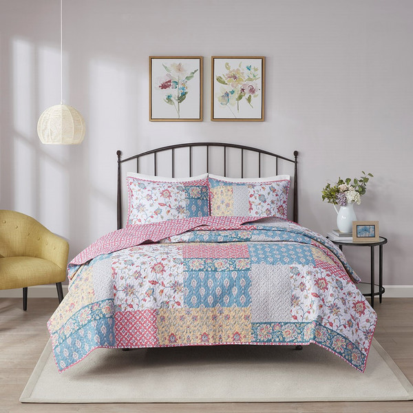 Charlotte 3 Piece Reversible Cotton Coverlet Set King/Cal King By Madison Park MP13-7099