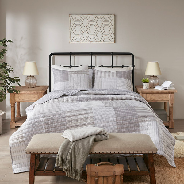 Mason 3 Piece Reversible Cotton Coverlet Set Full/Queen By Madison Park MP13-7100