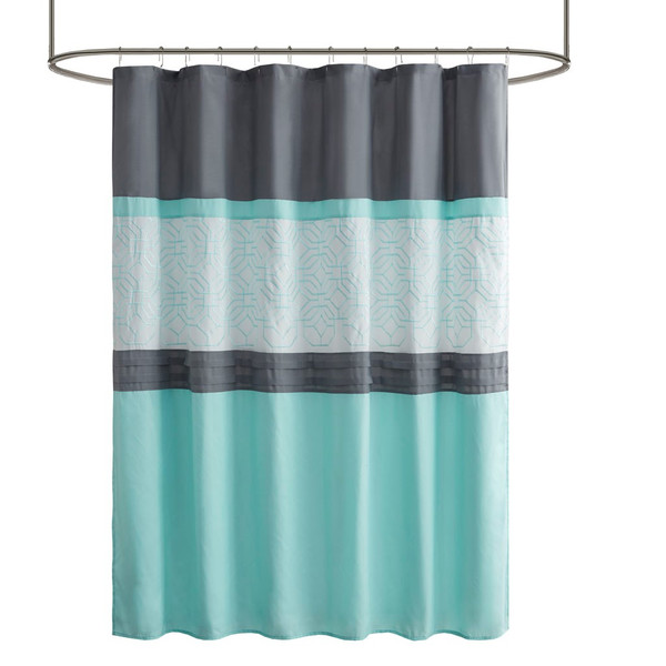 Donnell Embroidered And Pieced Shower Curtain With Liner By 510 Design 5DS70-0230