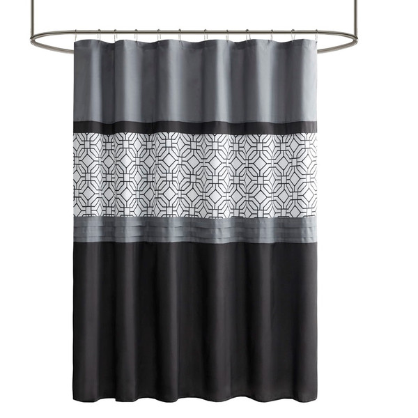 Donnell Embroidered And Pieced Shower Curtain With Liner By 510 Design 5DS70-0231