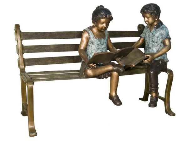 AFD Home Boy & Girl On Bench Decor 11286411