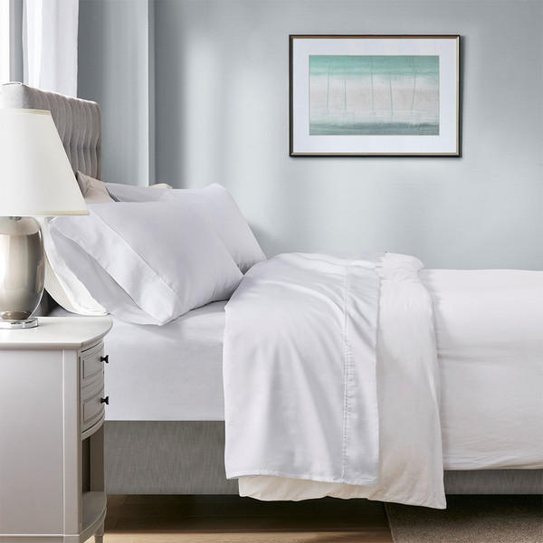 1000 Thread Count Temperature Regulating Antimicrobial 4 Piece Sheet Set Full By Beautyrest BR20-1879