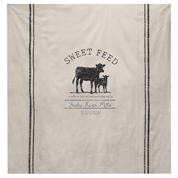 Sweet Feed Farmhouse Shower Curtain G28078 By CWI Gifts